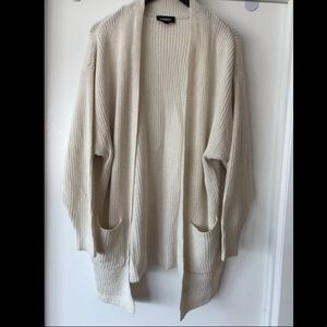 Cream Express Over Sized Cardigan